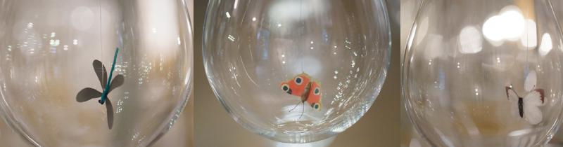 Световая инсталляция с насекомыми внутри
