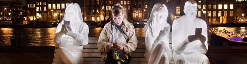 Освещение социальной проблемы на Amsterdam Light Festival