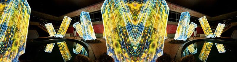 Японские художники создали световые мегалиты