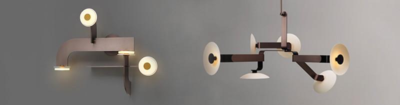 Графичная плоскость в светильниках Джеймса Дитера