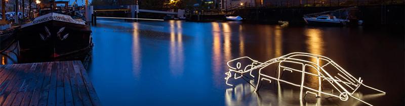 Амстердамский фестиваль света освещает улицы и каналы города